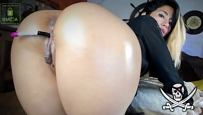 Colombian Girl Dildoing Rear End With Lush in Coochie