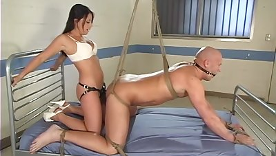Hot babe ass fucks male slave in an obstacle most intriguing femdom