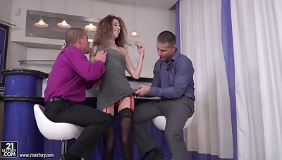 Parrot vividness triple all over cock hungry Monique Woods