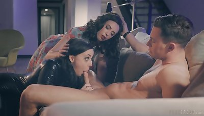 Joanna Angel surprises her husband with a 3-way with Angela Uninspired